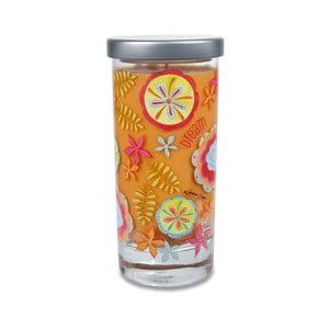 Lumânare parfumată Glass Bridgewater Candle, aromă cocos și vanilie