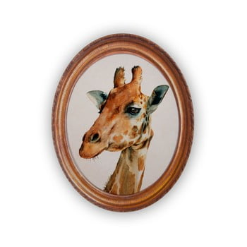 Tablou oval Really Nice Things Giraffe imagine