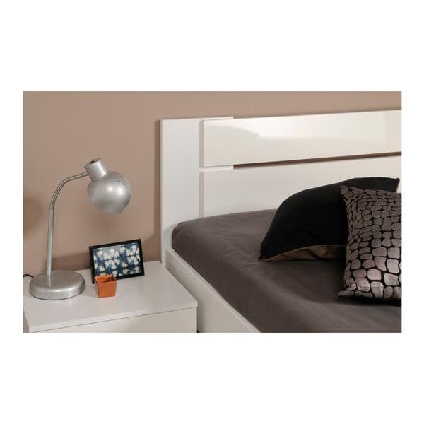 Bílá dvoulůžková postel Parisot Arlette, 140x190cm