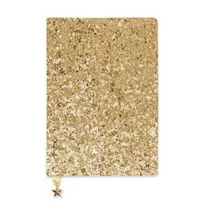 Zápisník A5 ve zlaté barvě GO Stationery All That Glitters Sequin