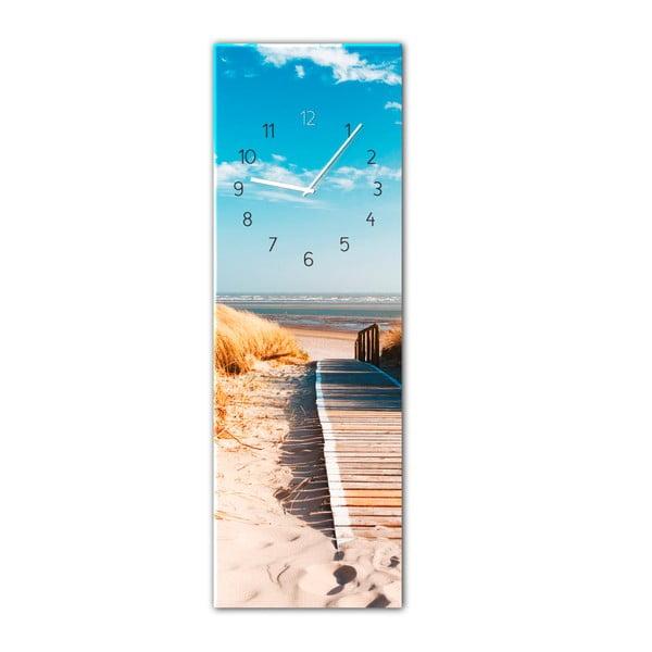 Ceas de perete Styler Glassclock Sunny, 20 x 60 cm