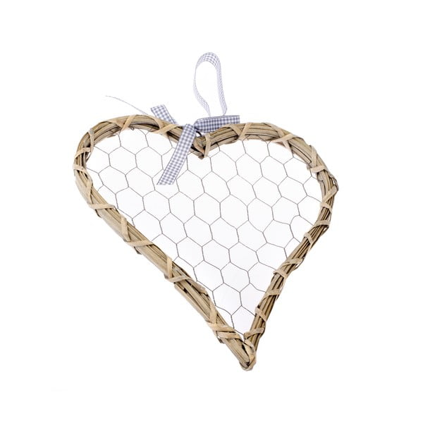 Dekorativní závěsné srdce Dakls Rattano Heart Tres