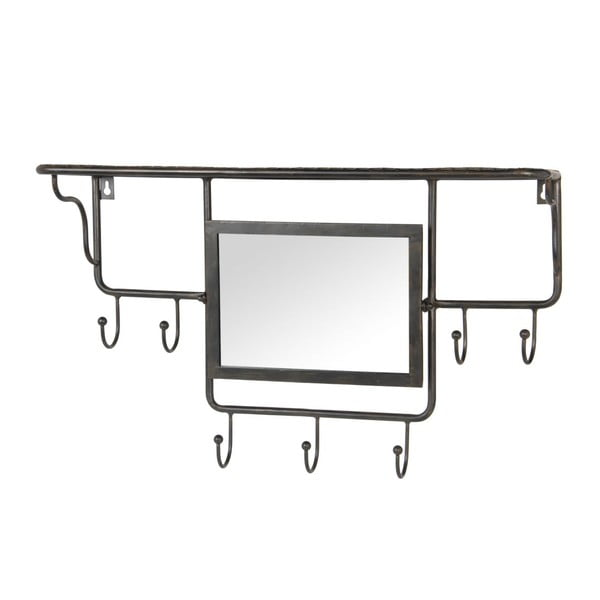 Věšák se zrcadlem Industrial, 60x18x38 cm