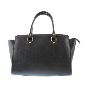 Černá kožená kabelka Chicca Borse Sandria
