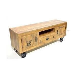 Suport TV pe roți din lemn de mango Massive Home Aubon