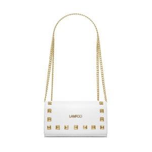 Bílá kožená kabelka Lampoo Luna