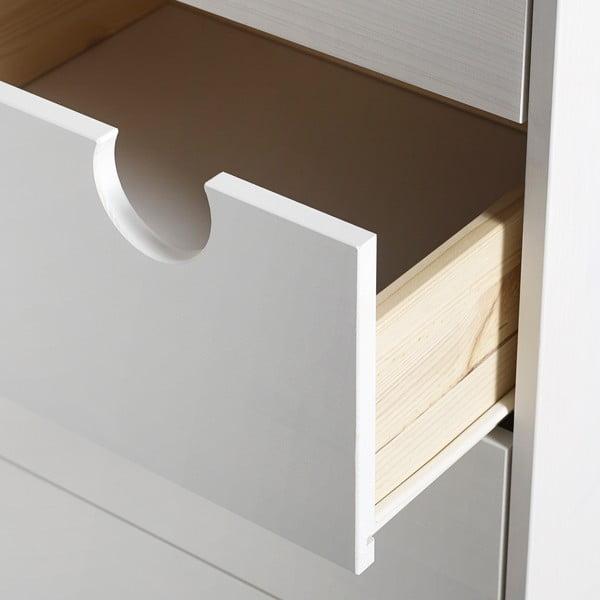 Komoda se šesti zásuvkami Karup Design House White/White