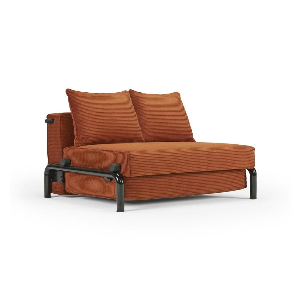 Oranžová rozkládací pohovka Innovation Ramone