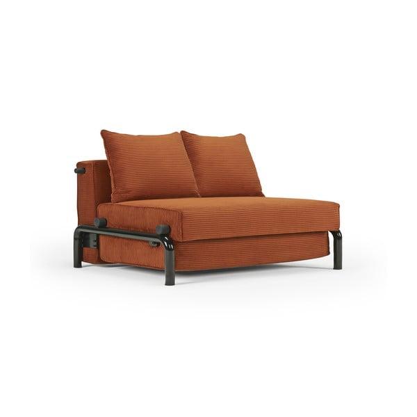 Oranžová rozkladacia pohovka Innovation Ramone