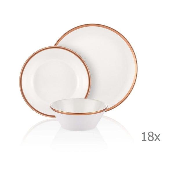 18dílný set porcelánového nádobí Mia Halos Bronze