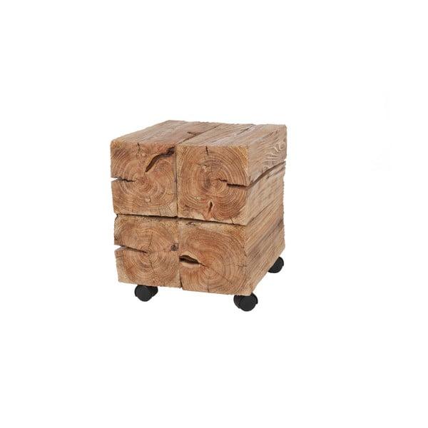Dřevěný stolek na kolečkách Woodlogs