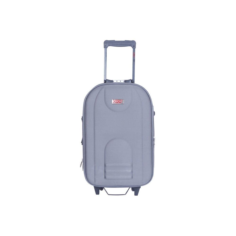 Šedý kufr na kolečkách Hero Airplane, 62 l