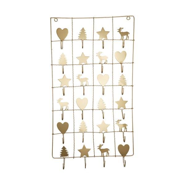 Calendar metalic advent Green Gate, lungime 71 cm, auriu