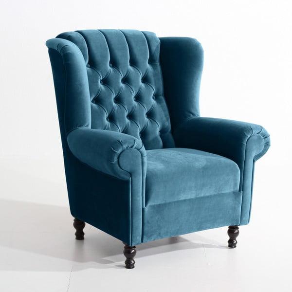 Vary Velvet petróleum kék fotel - Max Winzer