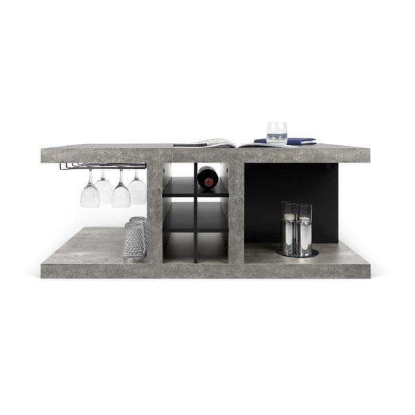 Detroit dohányzóasztal beton dekorral, 110 x 45 cm - TemaHome