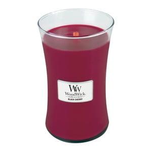Svíčka s vůní černých třešní WoodWick, dobahoření130hodin