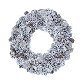 Coroniță decorativă Green Gate Wreath Hailey, ø 31 cm, alb imagine