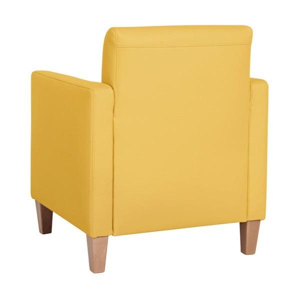 Žluté křeslo Max Winzer Milla Leather Corn