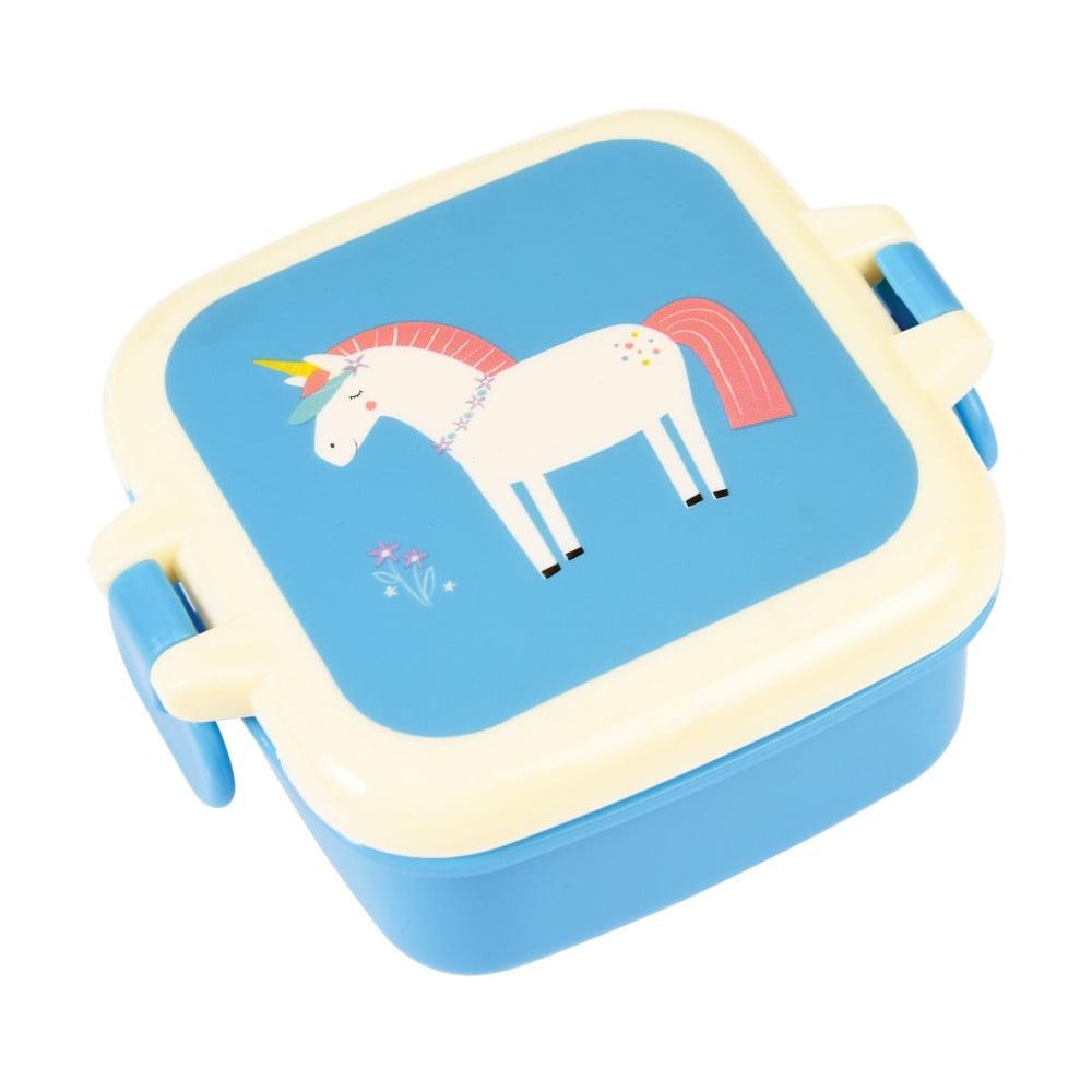 Modrý svačinový box s motivem jednorožce Rex London Magical Unicorn