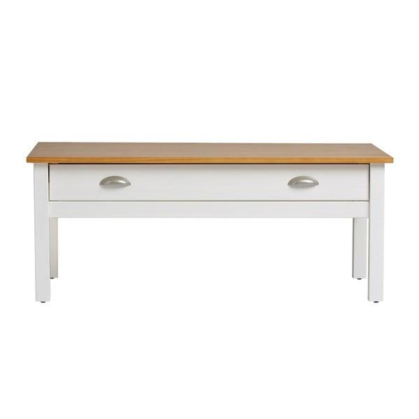 Biely konferenčný stolík z masívneho borovicového dreva Marckeric Jade