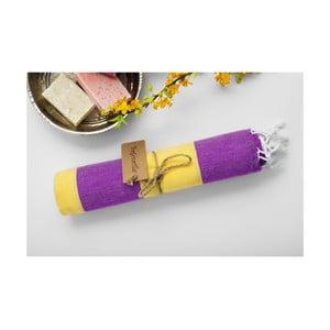 Hamam osuška Myra Lilac Yellow, 100x180 cm