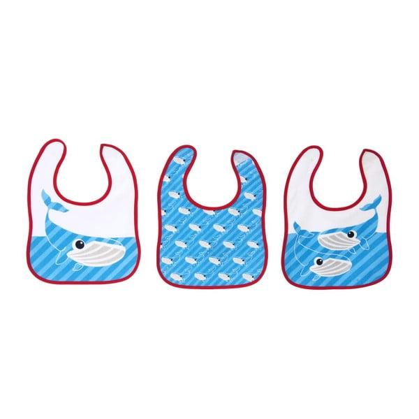 Sada 3 dětských bryndáků Bib Whale