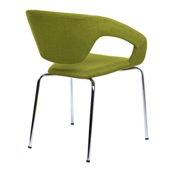 Sada 2 zelených čalouněných židlí D2 Space