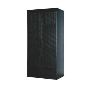 Černá skříň z borovicového dřeva se zásuvkami De Eekhoorn Herringbone