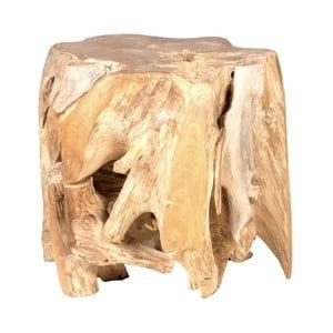 Zahradní konferenční stolek z teakového dřeva Massive Home Limb, ⌀ 45 cm