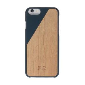 Tmavě modrý obal na mobilní telefon s dřevěným detailem pro iPhone 6 a 6S Native Union Clic Wooden Light