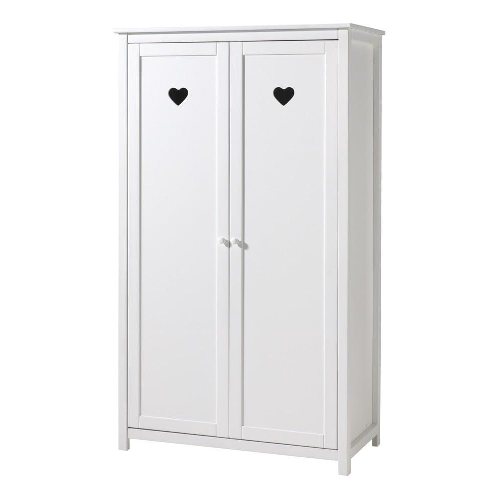 Bílá skříň Vipack Amori, výška 190 cm