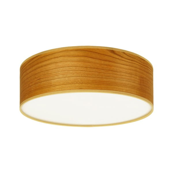 Stropní svítidlo z přírodní dýhy v barvě třešňového dřeva Sotto Luce TSURI,⌀30cm