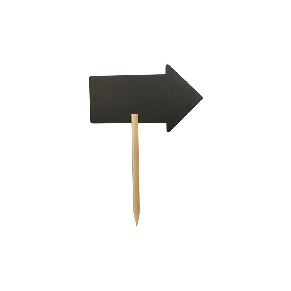 Fotografie Set popisovací tabule na stojánku a křídového popisovače Securit® Silhouette Arrow, 73x45cm