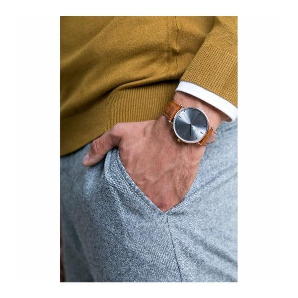 Unisex hodinky s hnědým páskem z pravé kůže Frederic Graff Shine
