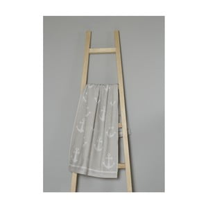 Béžový bavlněný ručník My Home Plus Anchor, 50 x 90 cm