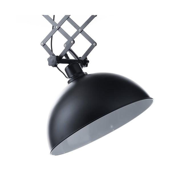 Černé závěsné svítidlo s pantografovým systémem Tomasucci Extension Evo