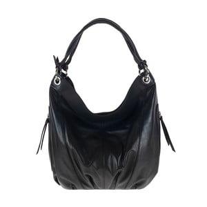 Černá kožená kabelka Pitti Bags Erma