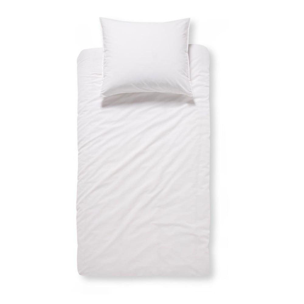 Bílé bavlněné povlečení na jednolůžko Damai Beat White, 200x140cm
