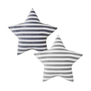 Sada 2 pruhatých polštářů ve tvaru hvězdy Unimasa,40x40cm