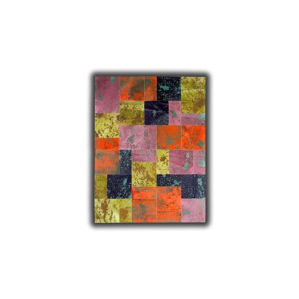 Koberec z pravé kůže Acid Color, 140x200 cm