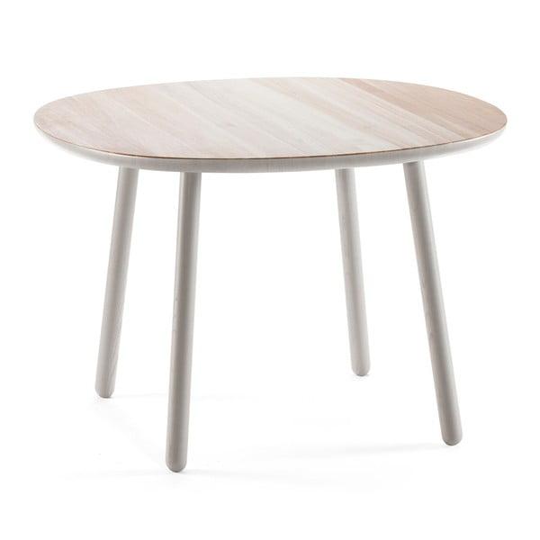 Masă dining din lemn masiv EMKO Naïve, ø 110 cm, gri