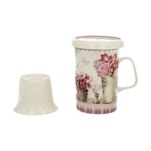 Porcelánový hrnek s porcelánový sítkem Duo Gift Mia, 320 ml