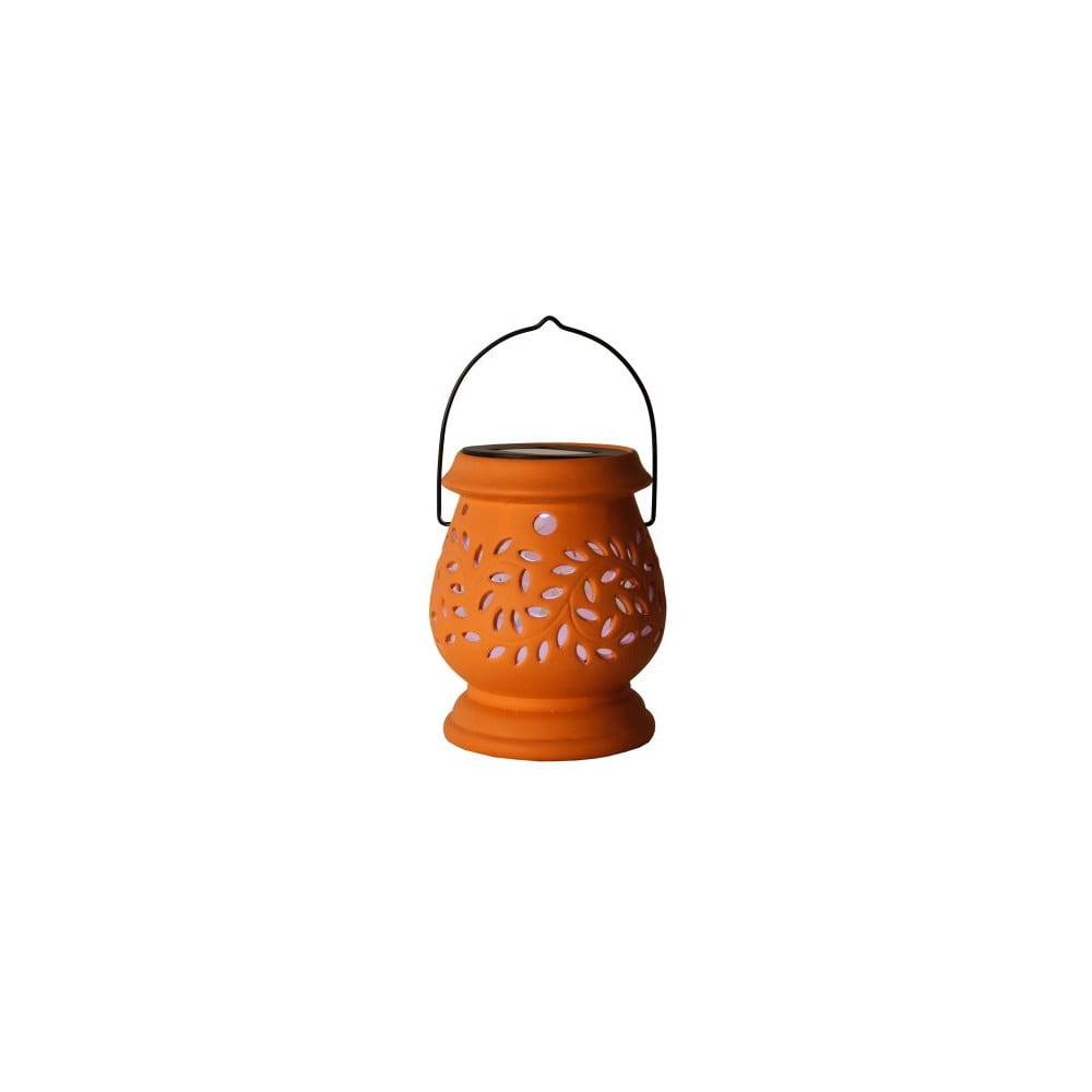 Červená venkovní LED lucerna Best Season Clay Terracotta
