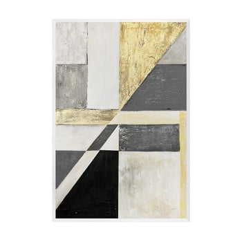 Tablou pictat manual JohnsonStyle The Art Deco Geometry, 63 x 93 cm