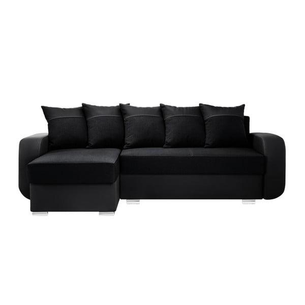 Černá sedačka Interieur De Famille Paris Destin, levý roh