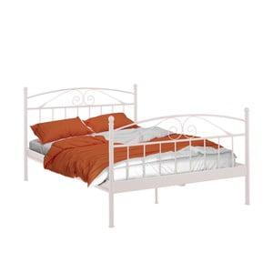 Bílá dvoulůžková postel Støraa Bibi, 140x200cm
