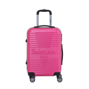 Růžový cestovní kufr na kolečkách s kódovým zámkem SINEQUANONE Rozalina, 44l