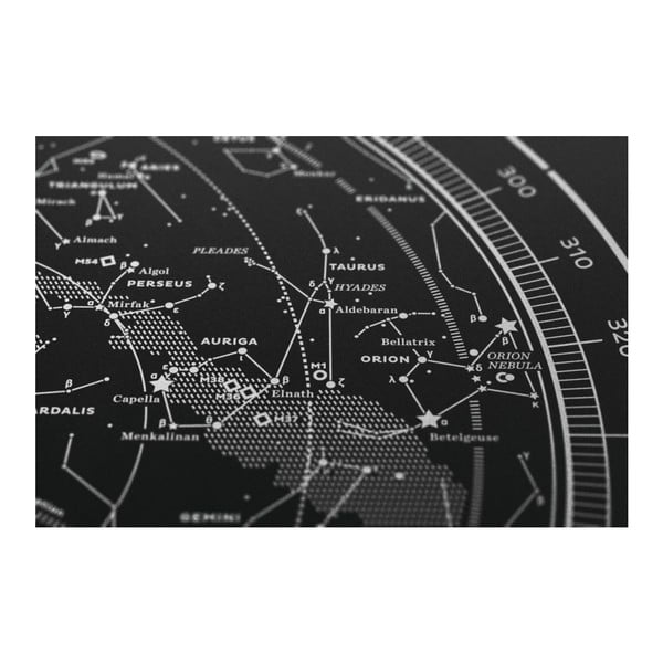 Plakát The Northern Sky Silver/White/Black, 50x70 cm