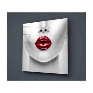 Skleněný obraz Insigne Lips Rojo, 50 x 50 cm