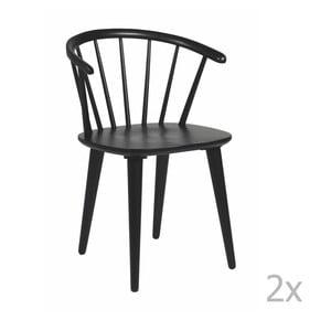 Sada 2 černých židlí Folke Carmen